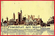 1art1 Frankfurt Poster und Kunststoff-Rahmen -
