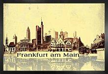 1art1 Frankfurt Poster und MDF-Rahmen -