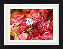 1art1 Früchte - Drachenfrucht Gerahmtes Bild Mit
