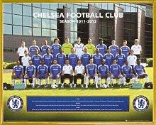 1art1 Fußball Mini-Poster und Kunststoff-Rahmen -