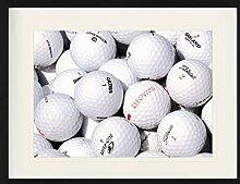 1art1 Golf - Golfbälle Gerahmtes Bild Mit Edlem