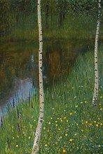 1art1 Gustav Klimt - Seeufer Mit Birken, 1901