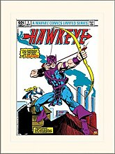 1art1 Hawkeye - Arrow Gerahmtes Bild Mit Edlem
