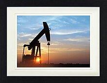 1art1 Industrielle Kunst - Sonnenuntergang Über