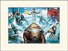 1art1 Inhumans - Team Gerahmtes Bild Mit Edlem