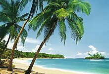1art1 Inseln, Tropische Insel 8-teilig Fototapete
