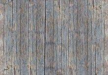 1art1 Landhausstil - Grobe Holzwand, 3-Teilig