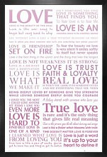 1art1 Liebe Poster und MDF-Rahmen - Echte Wahre