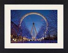 1art1 London - London Eye Gerahmtes Bild Mit Edlem