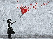 1art1 Mädchen - Mädchen Mit Luftballon Und