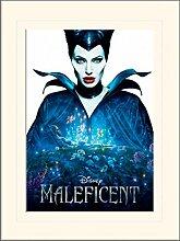 1art1 Maleficent - Filmplakat Gerahmtes Bild Mit