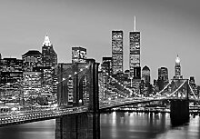 1art1 New York, Manhattan Skyline Bei Nacht,