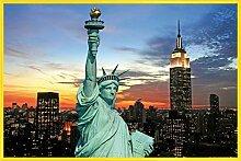 1art1 New York Poster und Kunststoff-Rahmen -