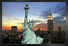 1art1 New York Poster und MDF-Rahmen -