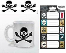 1art1 Piraten, Skull & Crossbones Foto-Tasse