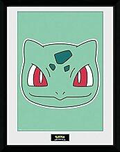 1art1 Pokemon - Bisasam Gerahmtes Bild Mit Edlem
