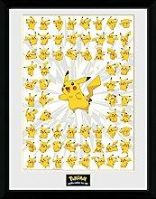 1art1 Pokemon - Pikachu Gerahmtes Bild Mit Edlem