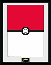 1art1 Pokemon - Pokeball Gerahmtes Bild Mit Edlem