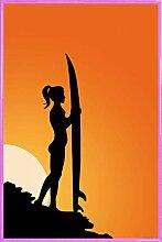 1art1 Schöne Frauen Poster und Kunststoff-Rahmen
