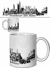 1art1 Set: Frankfurt, Städte-Collage, Vintage