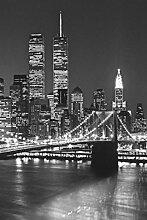 1art1 Set: New York, Brooklyn Bridge 4-Teilig