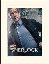 1art1 Sherlock - Watson Gerahmtes Bild Mit Edlem