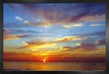 1art1 Sonnenuntergänge Poster und MDF-Rahmen -