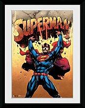 1art1 Superman - Strength Gerahmtes Bild Mit Edlem