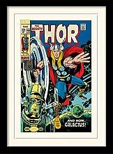 1art1 Thor - Galactus Gerahmtes Bild Mit Edlem