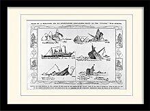 1art1 Titanic - Sketch Gerahmtes Bild Mit Edlem