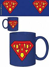 1art1 Väter - Super Dad Logo Foto-Tasse