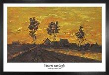 1art1 Vincent Van Gogh Poster und MDF-Rahmen -
