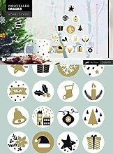 1art1 Weihnachten - Symbole In Gold Und Schwarz