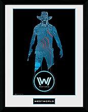 1art1 Westworld - Silhouette Gerahmtes Bild Mit