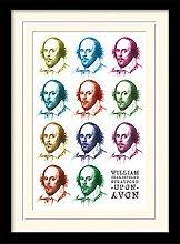 1art1 William Shakespeare - Pop Art Gerahmtes Bild