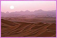 1art1 Wüsten Poster und Kunststoff-Rahmen -