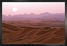 1art1 Wüsten Poster und MDF-Rahmen -