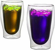 1aTTack.de 833222 Trink/Thermo-Glas 450 ml XXL