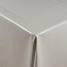 1buy3 Wachstuch   Viele Farben, Muster und Längen   Tischdecke Biertischdecke mit Fleecerücken (Grau Fein Kariert, 150cm x 140cm)