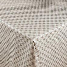 1buy3 Wachstuch   Viele Farben, Muster und Längen   Tischdecke Biertischdecke mit Fleecerücken (Grau Kariert, 150cm x 140cm)
