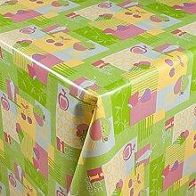 1buy3 Wachstuch   Viele Farben, Muster und Längen   Tischdecke Biertischdecke mit Fleecerücken (Pastelfruits, 250cm x 140cm)