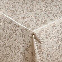 1buy3 Wachstuch   Viele Farben, Muster und Längen   Tischdecke Biertischdecke mit Fleecerücken (Graue Wiese, 200cm x 140cm)