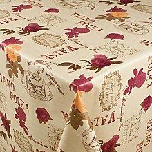 1buy3 Wachstuch   Viele Farben, Muster und Längen   Tischdecke Biertischdecke mit Fleecerücken (Piano Valse, 150cm x 140cm)