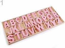 1dose Hellrosa Holzbuchstaben Bedruckt, Dekorative