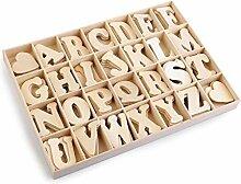 1dose Uche Holzbuchstaben Selbstklebend,