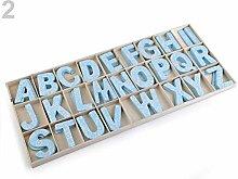 1dose Veilchenblau Holzbuchstaben Bedruckt,