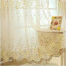 1er Blumen Stickereien Schal blickdicht Vorhang