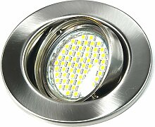 1er Set 230Volt LED SMD Einbaustrahler Alva. Spot
