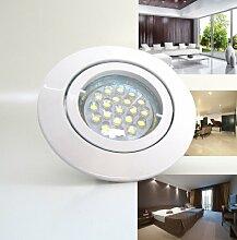 1er-Set LED Einbaustrahler PAGO 230V Farbe: Weiß