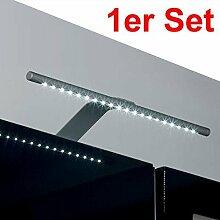 1er Set SO-TECH® Abella Leuchte kaltweiß LED-Aufbauleuchte / chrom matt / Breite: 325 mm / mit Trafo, Schalter und Stecker / 18 LEDs